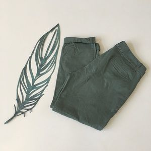 J. Crew Green Stretch Chino Pants Size 8